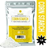 Corn Starch Powder, 16 oz, Thickener for Sauces, Gravies, Baking, 100% Pure Cornstarch, non-GMO,...