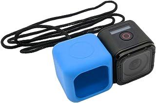 Hero 5/4セッション用シリコンケース防水耐摩耗性耐久性保護ハウジングキャリングカバーアクセサリー、ストラップソフトウルトラ薄型(ブルー)