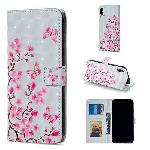 QiuKui Case Funda de Billetera de Cuero for Redmi Note 5 Pro Cover Funda for Redmi Note 6 Pro Coque for Casos de iPhone 6 Plus B67 (Color : Sea Sand, Material : For Redmi Note 5 Pro)