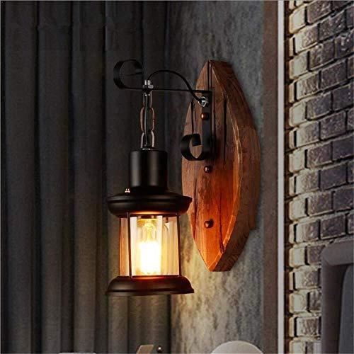 ZHENYUE Zhenyue wandlampen ® wandlamp single Head industrie vintage retro houtmetaal schilderij kleur wandlamp voor bar-café-kleding winkel creatief decoreren fixtures ZHENYUE