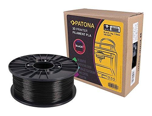 Stampante 3D Patona Filament PLA nero (bobina / 1Kg / 1,75 millimetri)