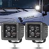 40W Faro Trabajo LED,4000LM Focos de Coche Faros Led Tractor Off-road Foco de Trabajo LED para Moto ATV SUV Tractor Camión Barco