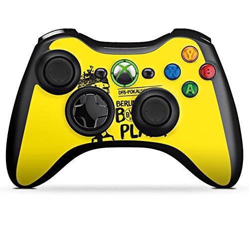 DeinDesign Skin kompatibel mit Microsoft Xbox 360 Controller Aufkleber Folie Sticker Borussia Dortmund Pokalsieger BVB