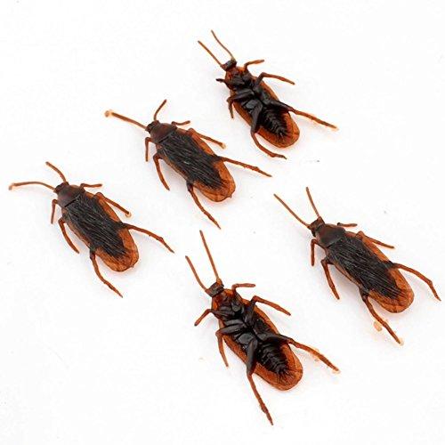Ogquaton Scarafaggi falsi Insetti di scarafaggio Halloween Prop Giocattoli ingannevoli Scherzo 12 pezzi Pratico e utile
