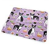 Cambiador de pañales para bebé, supersuave y portátil, almohadillas de viaje duraderas y lavables, lo mejor para el cambio de pañales de bebé, Boston Terrier, Sushi Lindo diseño de comida japonesa