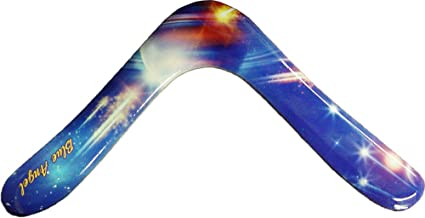 Blue Angel Wooden Boomerangs - Outer Space Edition - for Kids 8-14! Small and Light for Little Throwers!