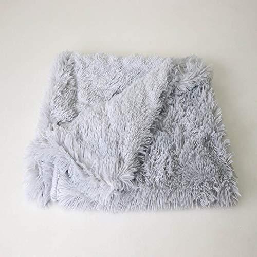 KGCA Pet Winter Plush Warm Sleeper Colchón Mediano Grande Perros Manta Funda M 78X54Cm Gris Claro