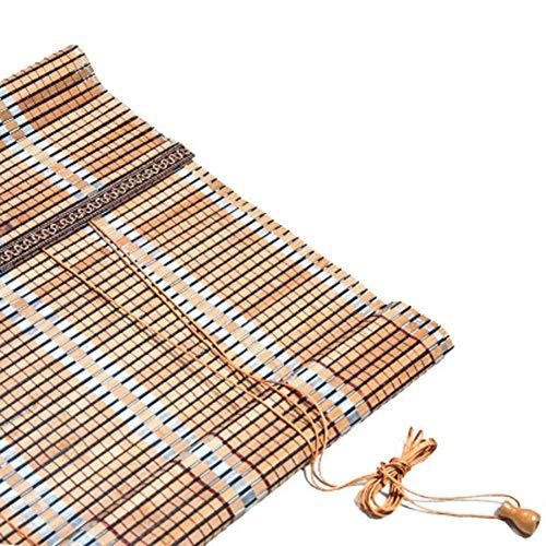 EXUVIATE Bamboe Rolgordijn/Houten Rolgordijnen/Verticale verduisterende jaloezieën/Bamboe Venetiaanse Blinds Bamboe-achtige Natuurlijke Raam Rolgordijn