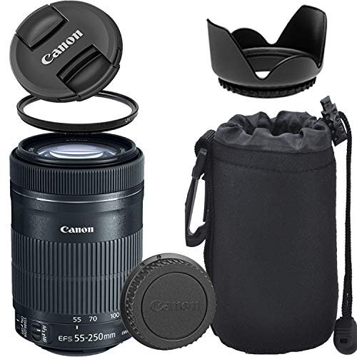 Canon EF-S 55-250mm f/4-5.6 is STM Lens with Optimal Accessory Bundle
