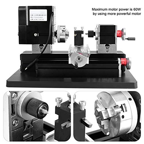 Best Buy! Simlug Mini Metal Milling Machine?60W High Power Mini Metal Lathe Woodworking Machine US P...