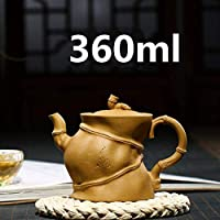 ティーポット 中国の陶磁器ティーポット粘土茶ポット宜興のzishaクレイ手作りポットGongfuティーセット360ミリリットル