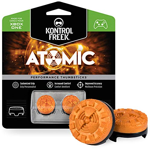 KontrolFreek Atomic para mando de XBOX One y Xbox Series X/S | Performance Thumbsticks | 2 Media Altura Convexos | Naranja