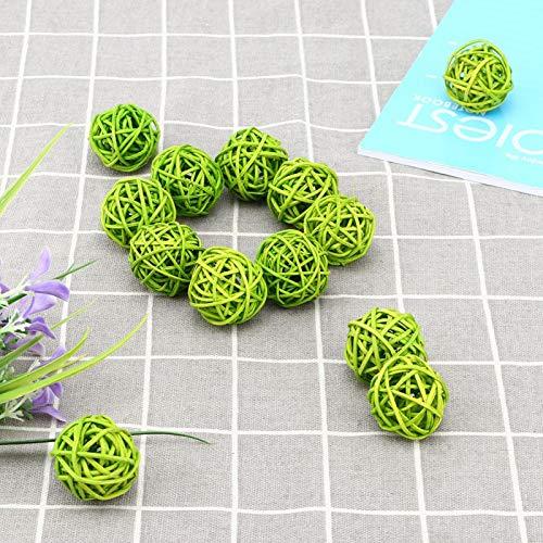 Voluxe Bolas de ratán para boda, florero relleno bola de ratán, decoración del árbol para el hogar sala de estar (amarillo)