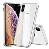 BJZP Iphone Xs MAX Case, Protective Clear Case [Enhanced Drop Protection] with TPU Cushion/Frosted edge Clear Backplate Cover for Apple iPhone Xs Max,White
