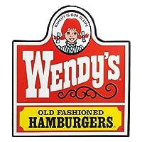 看板 エンボスサイン WENDY'S ウェンディ-ズ OLD LOGO 高さ32.5×幅29.5cm