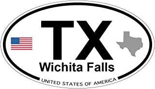 Wichita Falls, Texas Oval Magnet