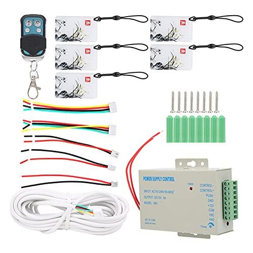Videoportero, Timbre Wifi con cable de 7 pulgadas, Desbloqueo remoto de tarjeta IC con contraseña de huellas dactilares, Videoportero de seguridad, Sistema de control de acceso(Transl)