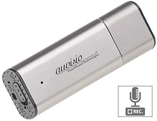 auvisio Aufnahmegerät Spionage: Digitaler Voice Recorder, geräuschaktivierte Aufnahme, 36 Std, 8 GB (Aufnahmegerät mit Stimmaktivierung)