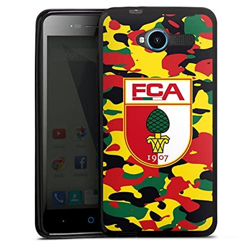 DeinDesign Silikon Hülle kompatibel mit ZTE Blade L3 Hülle schwarz Handyhülle FC Augsburg B&esliga Fußball