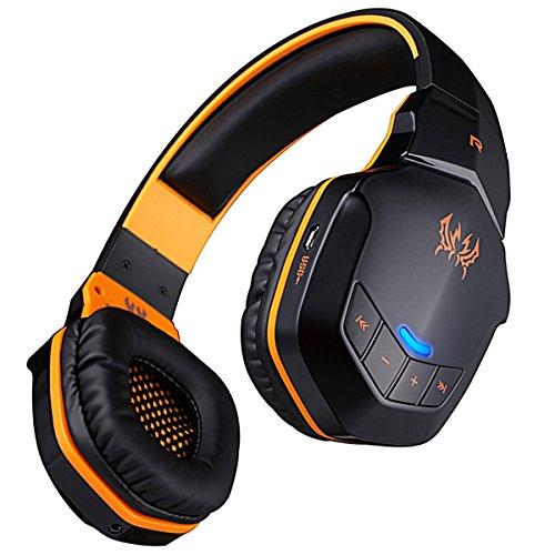 Kotion EACH B3505 Wireless Bluetooth 4.1 Stereo Gaming Kopfhörer-/Headset, unterstützt NFC mit Mikrofon für iPhone 6/iPhone 6 Plus, Samsung schwarz Gelb/Schwarz