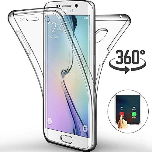 """Cover Samsung Galaxy S6 Edge Plus 5.7"""", [Touch 3.0 Versione Aggiornata] [360 Custodia Full Body] [Anteriore e Posteriore Protezione] Morbido Silicone Gel TPU Ultra Sottile Guscio Case"""
