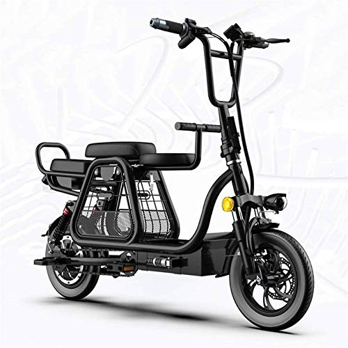 YAOSHUYANG Electric Bike Folding Electric Bikes for Adult Electric Scooter 12' 48v 350w 20ah Max Speed 24km/h Charging Removable Lithium-ion Battery Mountain Ebike Suitable for Men and Women,Black
