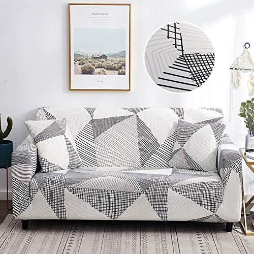 ASCV Plaid Sofabezug Elastic Funda Sofa Sofabezüge für Wohnzimmer Ecksofa Handtuch Couchbezug Möbelschutz A25 2-Sitzer