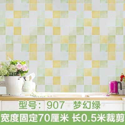 HCCY Keuken oliebestendige sticker betegelde zelfklevende hechten aan de muur kasten oven oliebestendig oppervlaktewater en temperatuurbestendige wc sticker, 907 70cm breed Model