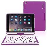 iPad Mini 1, iPad Mini 2 and iPad Mini 3 Keyboard, Snugg [Purple]