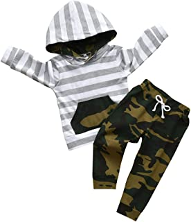 Toddler Infant Baby Boy Clothes Long Sleeve Pocket Hoodie...