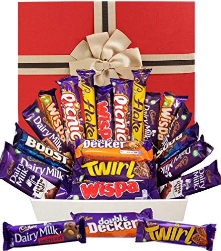 Cadbury Chocolate Hamper Gift Box - Perfect Sweet Selection of Your Favourite Chocolate Bars