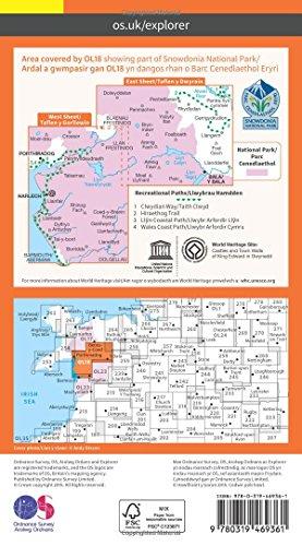 OS Explorer ACTIVE OL18 Harlech, Porthmadog & Bala/Y Bala (OS Explorer Map)