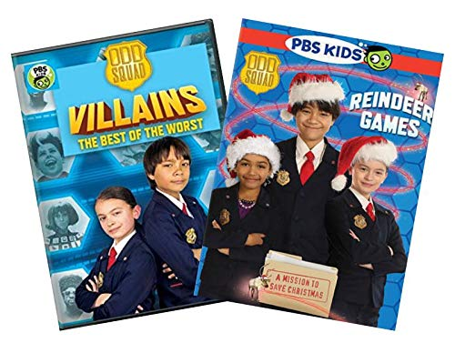 PBS Odd Squad 2-Pack Learning and Educational DVD Collection: Villains: The Best of Both Worlds / Reindeer Games