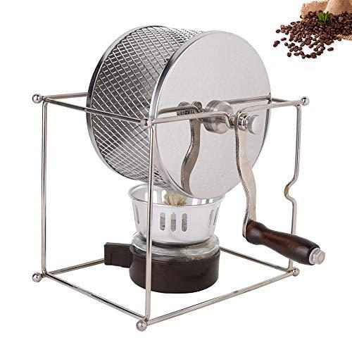 Tostador de café, Mini máquina de tostar Granos de café Espresso Manual Rodillos de Acero Inoxidable DIY con Mango para Granos de castañas de maní