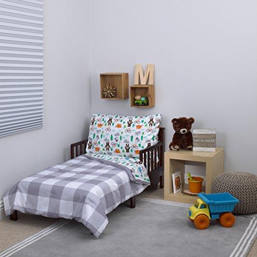 "Carter's 4-Piece Toddler Set, Grey/White/Green/Blue Woodland Boy, 52"" x 28"""