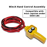 RUGCEL WINCH Winch Hand Control Assembly for Rated Pulling 1500lbs to 5000lbs 12V Electric Winch, Winch Hand-held Control Replacement Yellow
