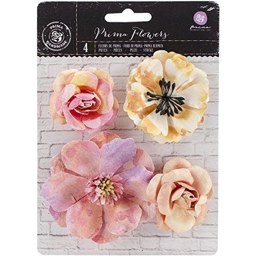 Prima Marketing Watercolor Mulberry Paper Flowers-Rose Quartz