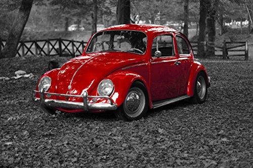 Wandbild 1200 x 690mm selbstklebend Automobile Käfer VW Wandbilder Poster XXL ws92