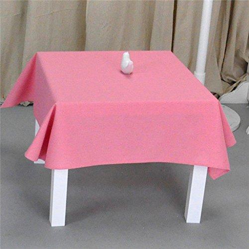 Nappes Nappe carrée de coton - cuisine/balcon/salon/hôtel nappe de couleur unie (150 * 150) (Couleur : D, taille : Square-130 * 130)