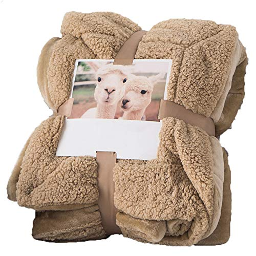 Fleece Throw Blanket, Double-Sided Super Soft Reversible Bed and Couch Blanket, Warm and Lightweight Home Decoration Blanket