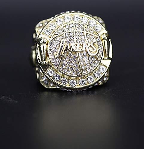 YANGLIXIA Baloncesto Lakers Championship Ring Super Bowl Champion Replica Anillos para Hombres Fan 9#
