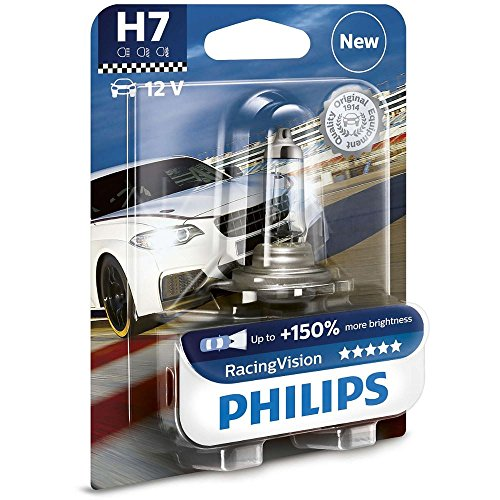 1 Ampoule Philips Racing Vision H7 + 150 % de lumière PX26d Voiture Moto Xtreme