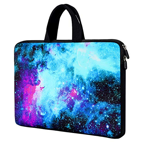 11 11.6 12 12.1 12.5 Inch Chromebook Case Laptop Carrying Bag Neoprene Sleeve Compatible with Lenovo Flex 11 11.6'/Dell Inspiron 11 3195/Lenovo Chromebook C330/Acer Chromebook R11(Galaxy Blue Space)