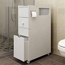 Home Equipment Free-standing Cabinet With White Floor Bathroom Cabinet Storage Rack Toilet Space Storage Cabinet Floor Cab...