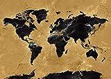 Mapa del mundo Mapa exquisito Mapa del mundo Mapa de la impresión retro Mapa del mundo impermeable y duradero Mapa del mundo muy hermoso Decoración del hogar-60x90cm_HZ15840