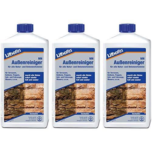 Lithofin MN Außenreiniger 3 l - wirkt schnell und gründlich & materialschonend - Natur- Betonwerkstein intensiv & gründlich reinigen