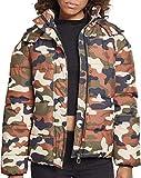 Urban Classics Ladies Boyfriend Camo Puffer Jacket Chaqueta, Multicolor (Rustica 01456), Medium para Mujer