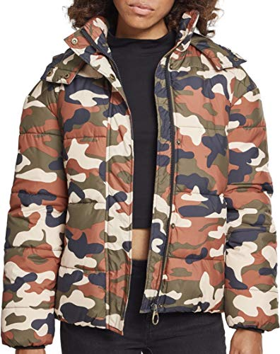 Urban Classics Ladies Boyfriend Camo Puffer Jacket Chaqueta, Multicolor (Rustica 01456), Medium para Mujer