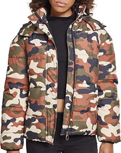 Urban Classics Damen Ladies Boyfriend Camo Puffer Jacket Jacke, Mehrfarbig (Rustica 01456), Large