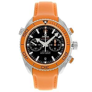 Omega Planet Ocean Chronograph Orange Rubber Strap Mens Watch 23232465101001 image